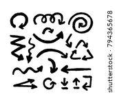 arrows. hand drawn marker... | Shutterstock .eps vector #794365678