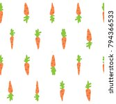 cute pattern with carrots | Shutterstock .eps vector #794366533