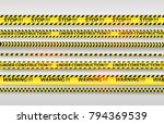 black and yellow stripes set.... | Shutterstock .eps vector #794369539