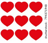 hearts with love icon | Shutterstock .eps vector #794371948