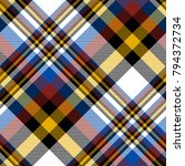 plaid check pattern in orange ... | Shutterstock .eps vector #794372734