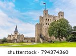 a view of rochester castle and... | Shutterstock . vector #794374360