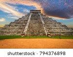 kukulkan pyramid in chichen... | Shutterstock . vector #794376898