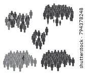 people icon set in trendy flat... | Shutterstock .eps vector #794378248