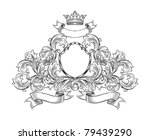 black and white  insignia... | Shutterstock .eps vector #79439290