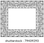 black and white retro frame ... | Shutterstock .eps vector #79439293