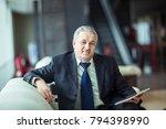 portrait of businessman with...   Shutterstock . vector #794398990