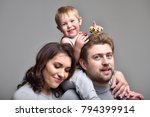 young family with a child ... | Shutterstock . vector #794399914