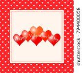 valentines day background.... | Shutterstock .eps vector #794400058