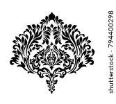 vintage baroque frame scroll... | Shutterstock .eps vector #794400298