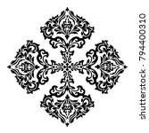 vintage baroque frame scroll... | Shutterstock .eps vector #794400310