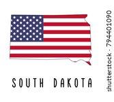 south dakota map isolated on... | Shutterstock .eps vector #794401090