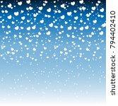 hearts design background.... | Shutterstock .eps vector #794402410