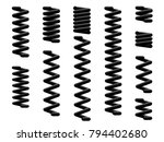 a set of coil springs | Shutterstock .eps vector #794402680