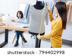 important measurements. skilled ... | Shutterstock . vector #794402998