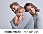 parents and child  gray... | Shutterstock . vector #794404654