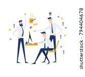 vector business illustration.... | Shutterstock .eps vector #794404678
