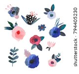 collection of hand drawn...   Shutterstock . vector #794405230
