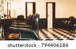 barbershop armchair. modern... | Shutterstock . vector #794406184