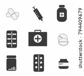 medical icons on a white...   Shutterstock .eps vector #794409679