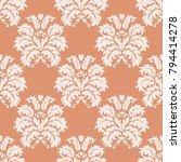 damascus seamless pattern of... | Shutterstock .eps vector #794414278