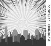 monochrome comic background... | Shutterstock .eps vector #794418700