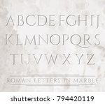 Ancient Roman letters chiseled in marble. Can be placed over different backgrounds.