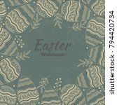 easter background consisting of ... | Shutterstock .eps vector #794420734