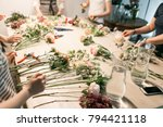 master class on making bouquets.... | Shutterstock . vector #794421118