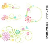 Floral Frame And Design...