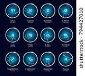 zodiac constellations....   Shutterstock .eps vector #794427010