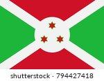 burundi state flag. vector... | Shutterstock .eps vector #794427418