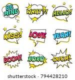 retro comic speech bubbles set... | Shutterstock .eps vector #794428210