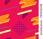 futuristic memphis style... | Shutterstock .eps vector #794433238