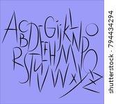 eleganse alpfabet font | Shutterstock .eps vector #794434294