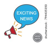 exciting news icon vector   Shutterstock .eps vector #794435350