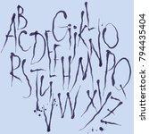 eleganse font alphabet | Shutterstock .eps vector #794435404
