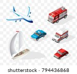 set of isometric high quality... | Shutterstock .eps vector #794436868