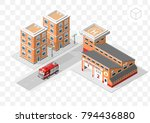 set of isolated high quality... | Shutterstock .eps vector #794436880