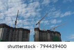 construction of apartment... | Shutterstock . vector #794439400