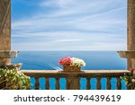 beautiful sea view in the town... | Shutterstock . vector #794439619