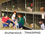 a vector illustration of family ... | Shutterstock .eps vector #794439940