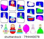logic exercise for children.... | Shutterstock .eps vector #794440078