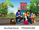 a vector illustration of... | Shutterstock .eps vector #794440180