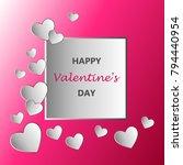 happy valentines day typography ... | Shutterstock .eps vector #794440954