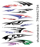 vinyls   decals for car ... | Shutterstock .eps vector #794441734