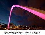 gateshead millennium bridge...   Shutterstock . vector #794442316