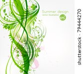 abstract floral background with ... | Shutterstock .eps vector #79444270