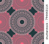 vintage wallpaper rapport.... | Shutterstock .eps vector #794443114