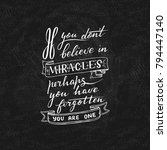 hand lettering quote with... | Shutterstock .eps vector #794447140